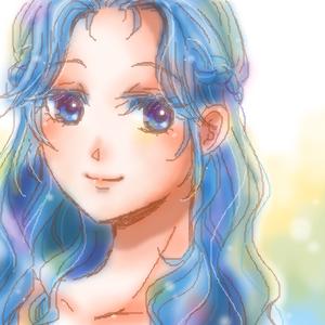 「青い髪のお姫様」 by なぎさん